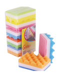 3-layers Wave-shaped Kitchen Sponge